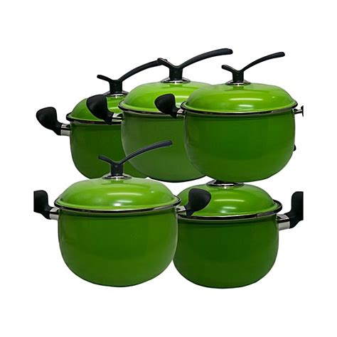 buy    stick cooking pots  pieces green