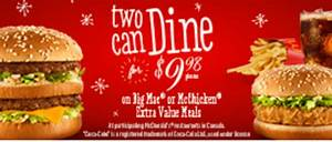 McDonalds Canada Promotions: Two Can Dine, Big Mac or ...