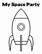 Coloring Space Party Rocket Ship Outline Clipart Pages Print Twistynoodle Rockets Shuttle Unit Birthday Cliparts Clip Moon Miles Lightyear Buzz sketch template