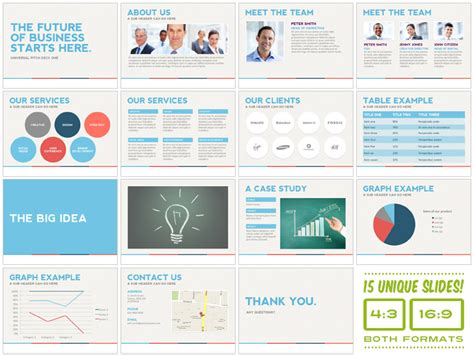 universal pitch deck one powerpoint presentation