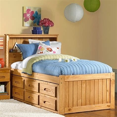 twin captains bed   drawers woodworking projects