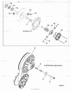 Polaris Atv 2017 Oem Parts Diagram For Drive Train