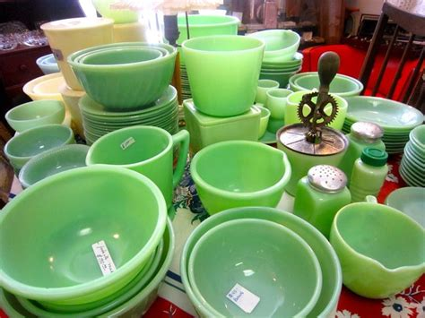 jadeite fire king dishes vintage kitchen pinterest
