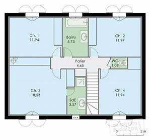 maison familale detail du plan de maison familale With plan maison etage 100m2 2 maison bbc 2 detail du plan de maison bbc 2 faire