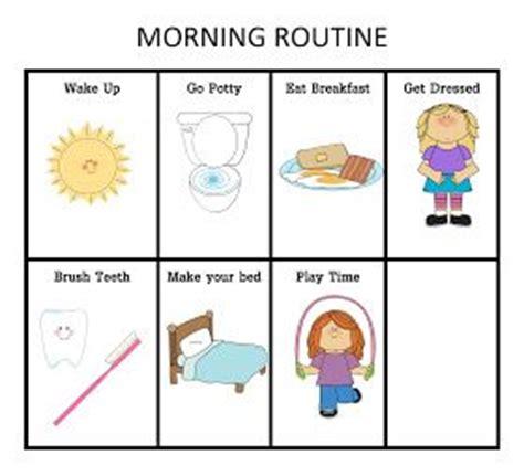 routine chart charts  mornings  pinterest
