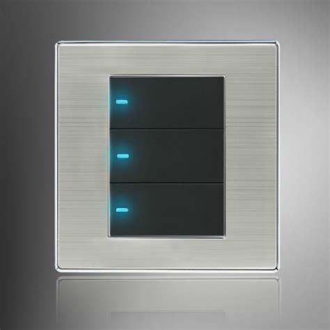 buy led wall switch panel three switch single
