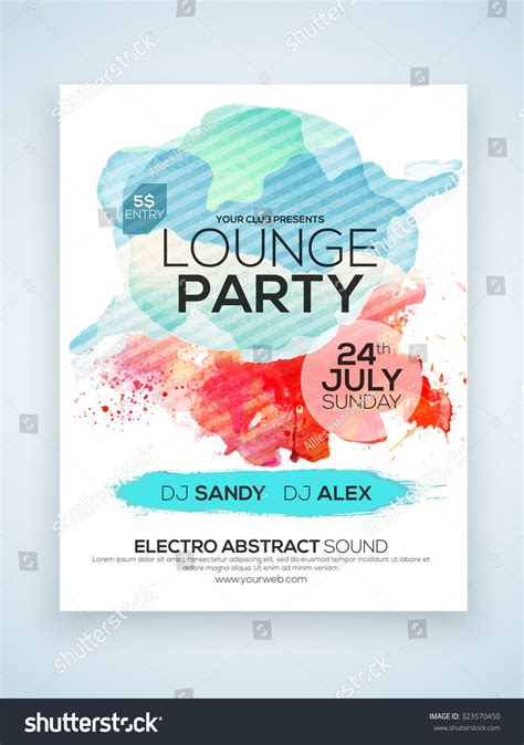 one page flyer template creative stylish one page flyer banner stock vector