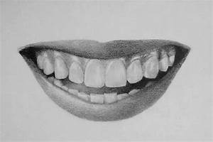 How to Draw Teeth and Lips - 7 Easy Steps | RapidFireArt