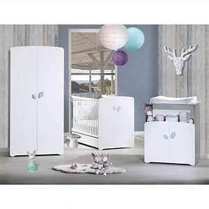 Chambre Complete Bebe : chambre b b trio leaf lit 60x120cm commode armoire de baby price sur allob b ~ Teatrodelosmanantiales.com Idées de Décoration