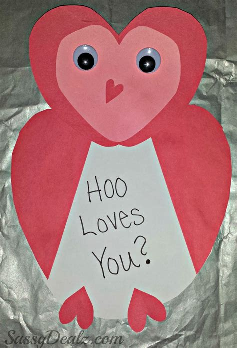 valentines day card kids owl valentines day card idea for kids crafty morning