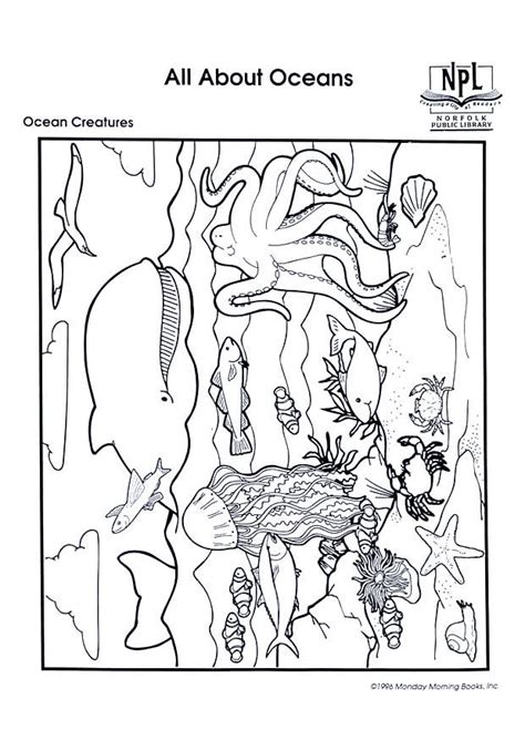 coloriage animaux marins coloriages gratuits  imprimer dessin