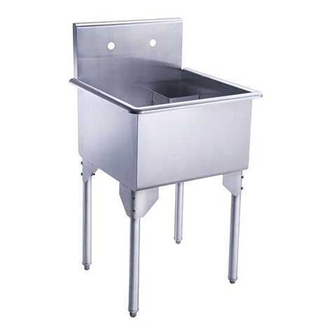 commercial stainless steel kitchen utility sink griffin products lt series 24x24 stainless steel