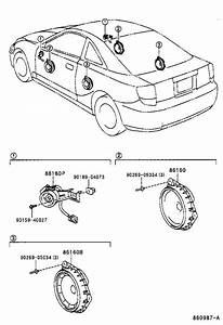 Toyota Celica Speaker Assembly  Front No  2  Electrical