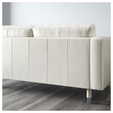 two seat sofa and chaise longue landskrona two seat sofa and chaise longue grann bomstad white metal ikea