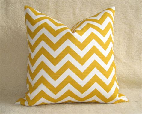etsy throw pillows outdoor chevron decorative pillow yellow white by