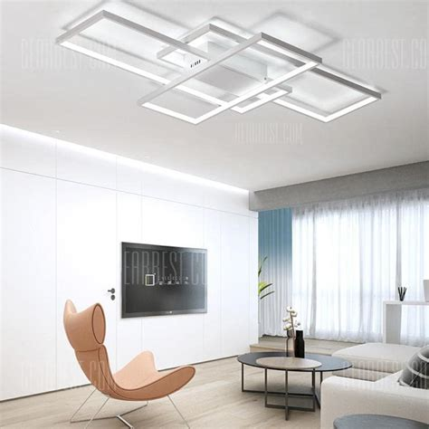 Led Light Room Size by Modern White Led Flush Mount Ceiling Light Square