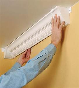 Installing Plastic Crown Molding - How to Cut & Install