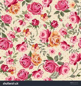 Classic Small Rose Seamless Background Ilustración ...