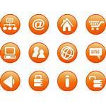 Orange Icon Round Buttons Icons