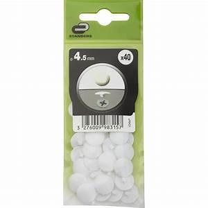 Cache Vis Leroy Merlin : lot de 40 cache vis plastique standers diam 4 5 mm ~ Melissatoandfro.com Idées de Décoration