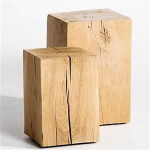 Table De Chevet Bois Brut : photo table de chevet bois brut ~ Teatrodelosmanantiales.com Idées de Décoration