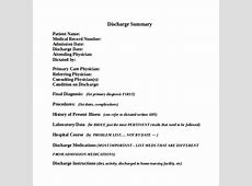 Discharge Summary Template 11+ Free Samples, Examples