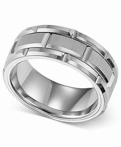 triton 8mm white tungsten wedding band in white for men lyst With triton wedding rings