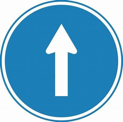 Straight Traffic Svg Korean Way Icon Ahead