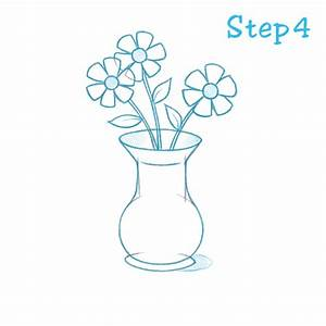 how to draw flowers in a vase | Roselawnlutheran