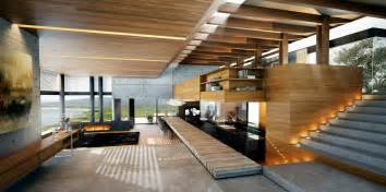 wood interior homes living rooms with great views