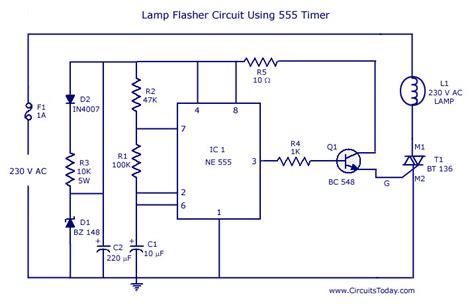 Flasher Circuit Using Diagram World