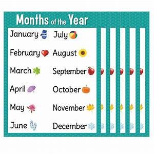 Get Creative Teaching Press U00ae Months Of The Year Chart  6ct