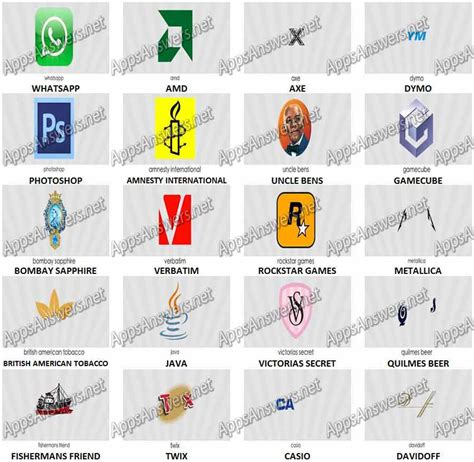 logos quiz game level 11 answers apps answers net