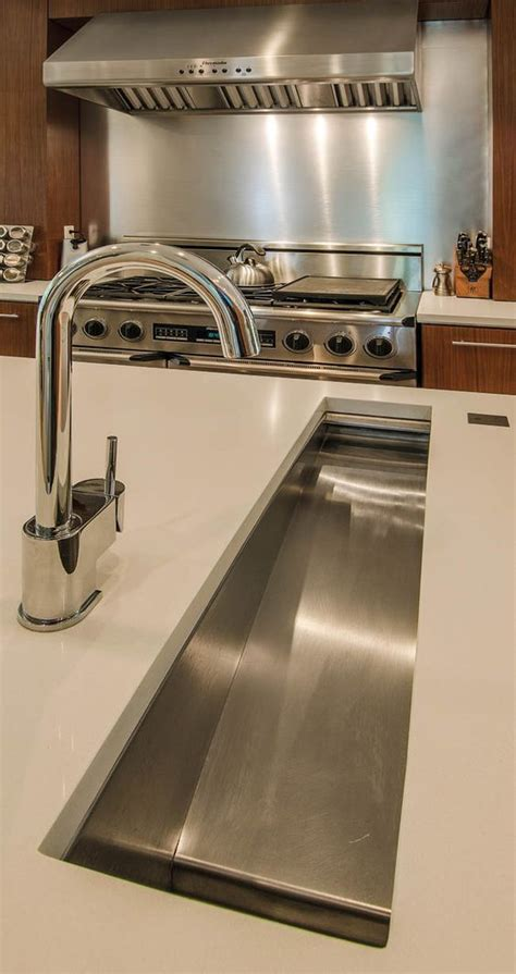 small kitchen prep sinks in island trough sink makes prep so much easier 5494
