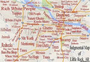 Judgmental map of Little Rock, Arkansas Laughter