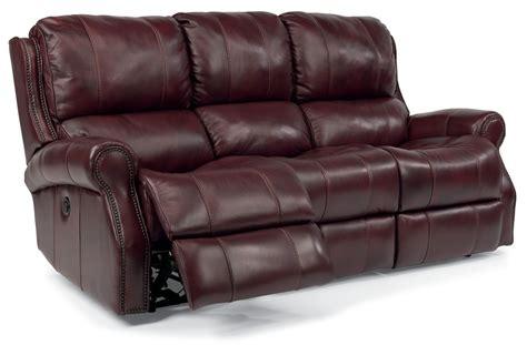 flexsteel leather reclining sofa flexsteel miles leather reclining sofa 153362p41862