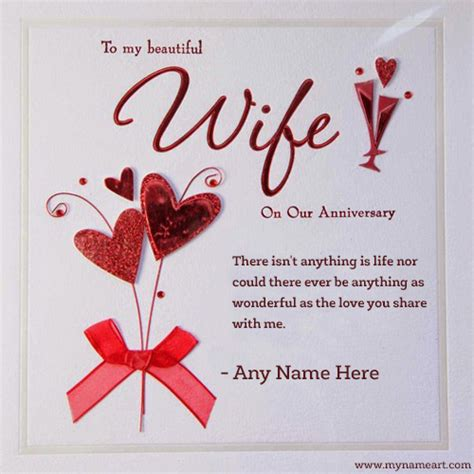 beautiful wife  anniversary wishes    wishes greeting card