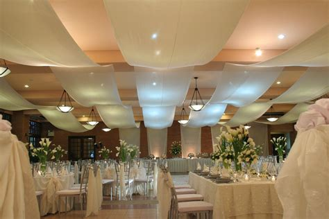 Ceiling Drapes For Weddings by Different Of Draped Ceiling Flowers And Decor