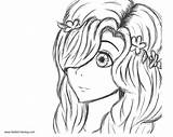 Girly Coloring Pages Cartoon Printable Adults sketch template