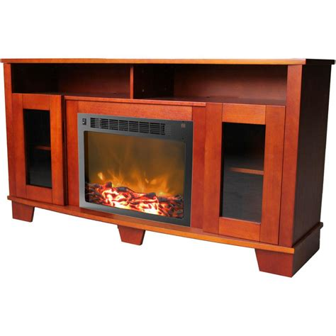 cambridge savona   cherry electric fireplace mantel