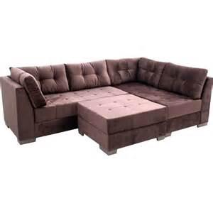 sofa de sofá de canto 3 e 3 lugares puff novo mundo ágata novo mundo