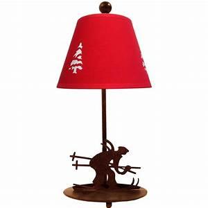 Abat Jour Lampe : lampe skieur abat jour sapin ~ Teatrodelosmanantiales.com Idées de Décoration