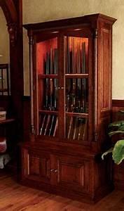 Wood Gun Cabinets / Cherrywood Security Gun Cabinet -- Orvis