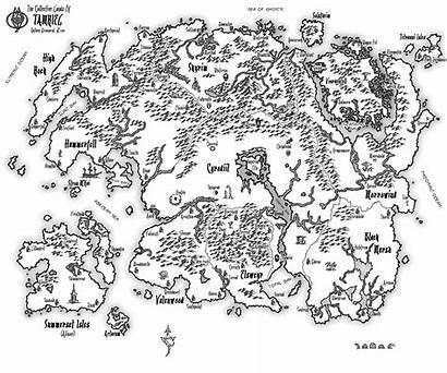 Tamriel Map Patrick Ransom Deviantart Elder Draw
