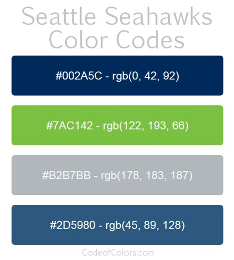 philadelphia eagles colors seattle seahawks colors hex and rgb color codes