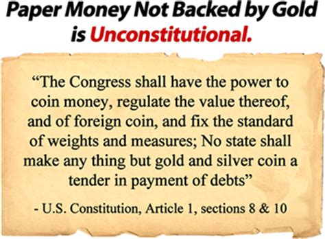 us constitution article 1 section 8 why must investors own gold silver silver doctors