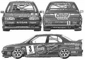 Nissan Primera P10 Side Profile Drawing  Graphic