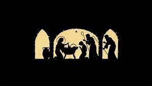 Nativity Scene Silhouette Printable www imgkid com - The