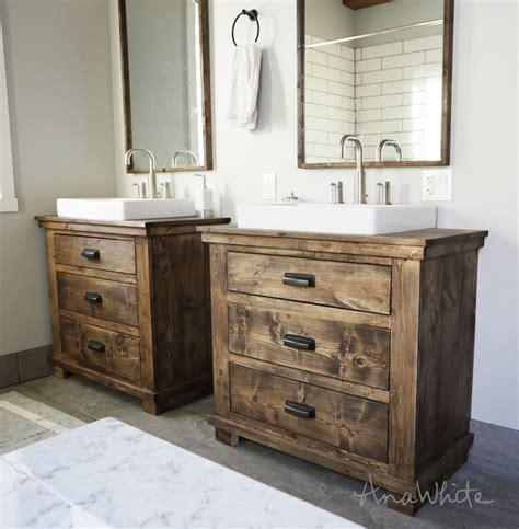 ana white rustic bathroom vanities diy projects