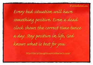 Daily Thought (... Everyday Situation Quotes
